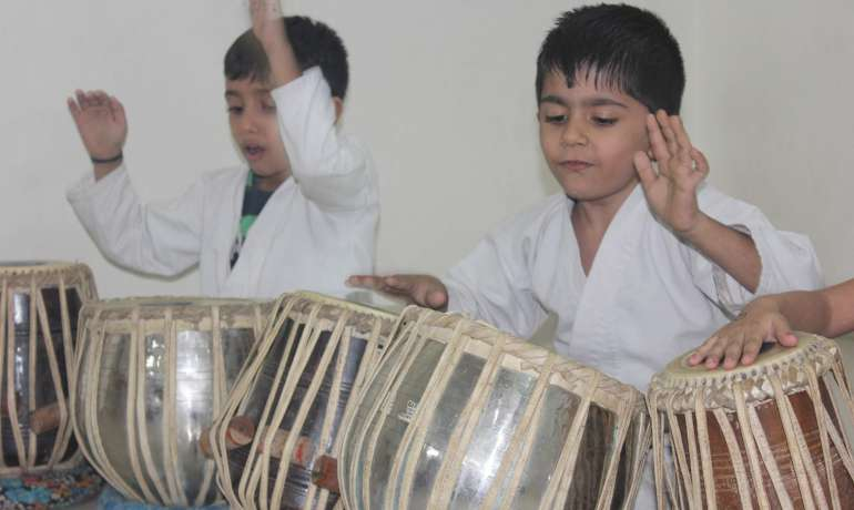 Tabla performance for PAC kids