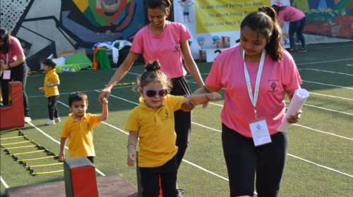 Annual Sports Meet 19-20 was organized by PAC for preschoolers and Activity children on 01/02/2020 at Athlon Sports Kalidas